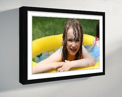 £15.99 • Buy PHOTO ON CANVAS LARGE PERSONALISED  PRINT DEEP FRAMED 30mm A4 A3 A2 A1 A0