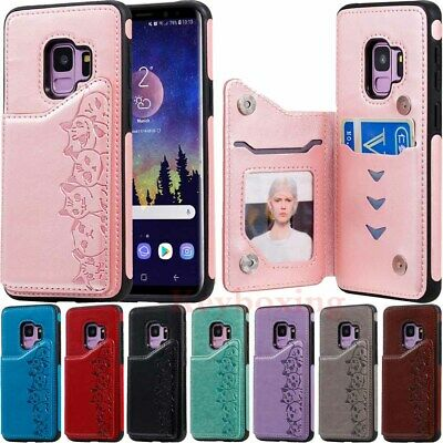 $ CDN9.61 • Buy Magnetic Flip Card Wallet Leather Case Cover For Samsung Galaxy S10 S9 S8 Note10