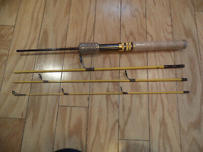 $75 • Buy eagle Claw Trail Master Spin / Fly Rod 4 Piece With Travel Bag - Never Used