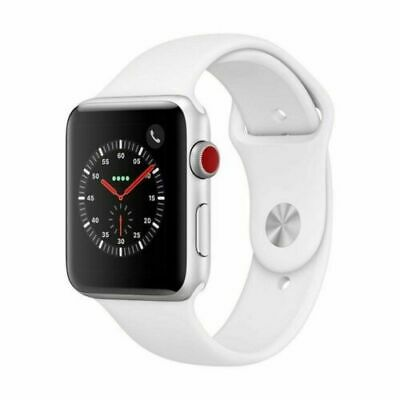 $ CDN286.90 • Buy Apple Watch Series 3 42mm GPS + Cellular 4G LTE - Silver - White Sport Band