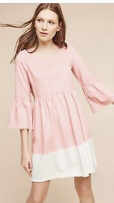 $ CDN35 • Buy Anthropologie Holding Horses Babydoll Size 12 Pink Dress NWT