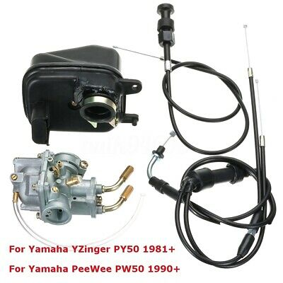 AU40.99 • Buy CARBY+AIR FILTER+Throttle + Choke Cable For YAMAHA PEEWEE PW50 PY50 YZINGER BIKE