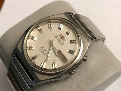 $ CDN65.19 • Buy VINTAGE STAINLESS STEEL ORIENT 3 STARS AUTOMATIC 21 J.MEN'S WATCH DAY DATE