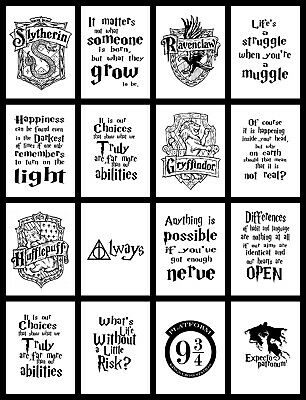 £29.99 • Buy Harry Potter Quote Typography Inspirational Poster PRINT A4 A3 A2 BUY1GET 2 FREE