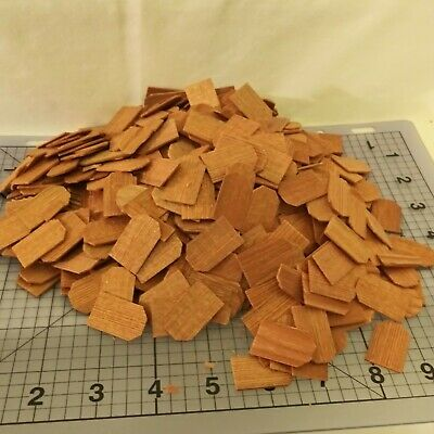 $15.99 • Buy Doll House CEDAR SHAKE SHINGLES About 500+ Pieces Tapered Wood Roofing Crafts
