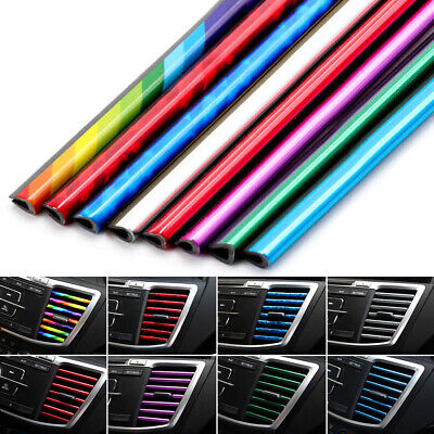 $2.79 • Buy 10Pcs Car Accessories Auto Colorful Air Conditioner Air Outlet Decoration Strips
