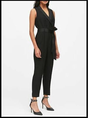 $35.99 • Buy New Banana Republic Black Tuxedo Button Front Jumpsuit 10p