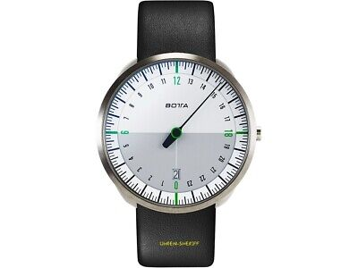 Botta Uno 24 Titan White Green 24 Hours Designer Watch With A Hand And Date • 400.38£