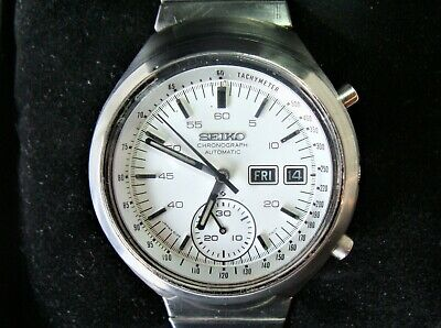 $ CDN167.61 • Buy Vintage Seiko 6139-7100 Automatic Chronograph Helmet Men's Watch With Box