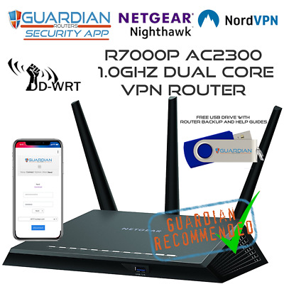 Netgear R7000P Nord VPN Router With Guardian APP + FREE USB Works Worldwide • 259£