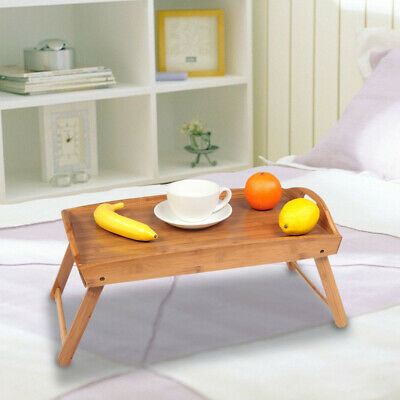 $15.90 • Buy Lap Tray With Folding Legs TV Dinner Food Meal Breakfast In Bed Table Serving