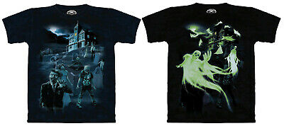 $18 • Buy Zombies And Ghosts Haunted House Dark Fantasy Shirt Mountain Glow  Sizes M-4X