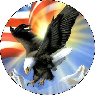 $ CDN93.09 • Buy Eagle #4 Eagle With Flag Spare Tire Cover Fits Campers, Trailers, Backup Camera