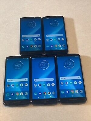 $ CDN262.91 • Buy Lot Of 5 Motorola Moto G6 Play XT1922-9 AT&T 16GB Blue Smartphones A&B Stock