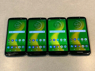 $ CDN197.18 • Buy Lot Of 4 Motorola Moto G6 Forge XT1922-9 Cricket 16GB Blue Smartphones A&B Stock