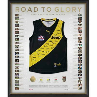 AU2995 • Buy Richmond Tigers 2019 Premiers Team Signed Guernsey Road To Glory Martin Afl