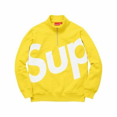 $ CDN420.69 • Buy New Size Small Supreme Sup Logo Half Zip Pullover Yellow Box Logo Hoodie Fw15