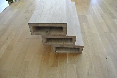 £185 • Buy Oak Stair Treads For Floating Staircase - Untreated