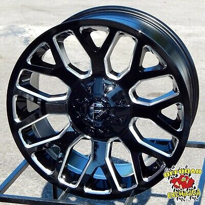 $1228 • Buy 20x10  BLACK FUEL WARRIOR WHEELS RIM FORD F-250 F350 SUPER DUTY LARIAT FX4 8x170
