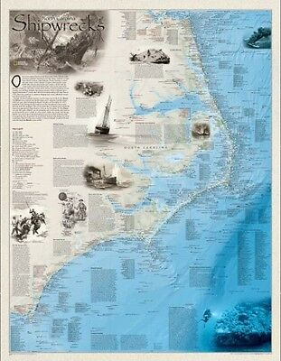 AU78.67 • Buy Shipwrecks Wall Maps By National Geographic