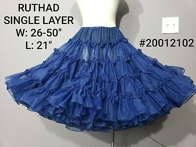 $15 • Buy Gorgeous Dark Navy Blue Ribbon & Ruffles Crinoline Petticoat Ruthad Rose