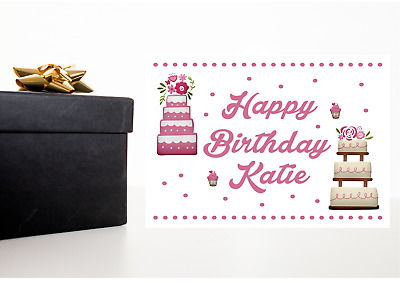A4 Personalised Birthday Present Gift Box Sticker Label  • 1.99£