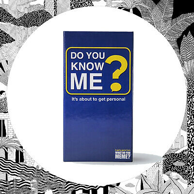 AU33.49 • Buy Do You Know Me? Adult Party Game- Card Based Party Drinking What Do You Meme?