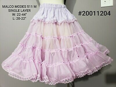 $15 • Buy Square Dance Petticoat, Crinoline Slip Malco Modes 511, Lilac Purple Lace Trim