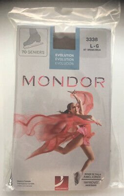 Mondor 3338 Over Boot Ice Skate Stocking/tight,Adult Large, Colour 87 Brown NWT • 15.58£