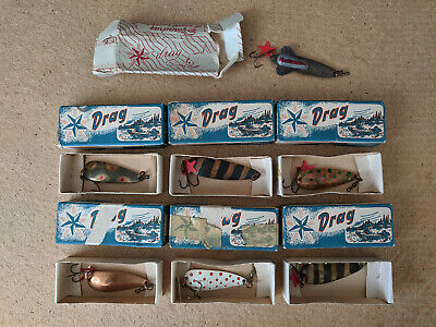 $ CDN77.99 • Buy Vintage STJARNDRAG Fishing Lures - 7 Pcs., Made In Sweden