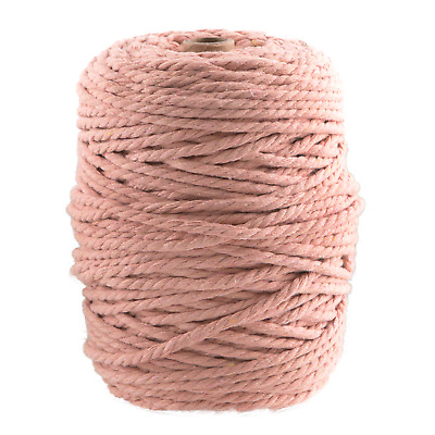 AU45 • Buy 5mm Peach Macrame Rope Coloured 3 Ply Cotton Cord String Twisted Australia Pink