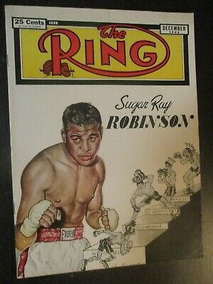$19 • Buy The Ring Magazine December 1949 Sugar Ray Robinson Cover