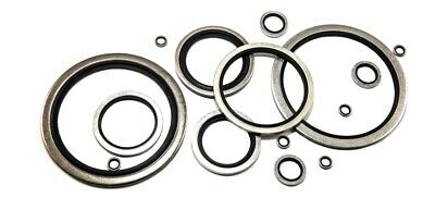 £14.99 • Buy Dowty Seal Bonded Rubber Washers Pack Of 10 - 1/8 -3  BSP Sizes