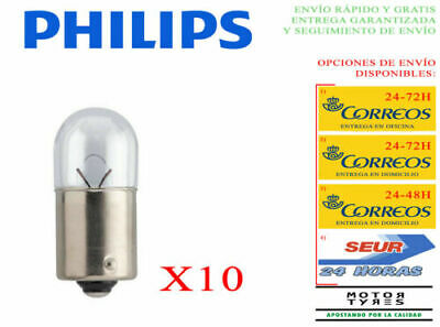 AU21.78 • Buy 10 Light Bulbs Philips Vision R5W BA15s Lamps + 30% Light 12V 5W Normal Car Moto
