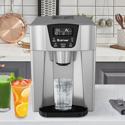 $169.59 • Buy 2 In 1 Ice Maker Water Dispenser Countertop 26Lbs/24H LCD Display Portable Use