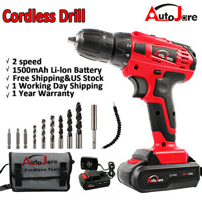 View Details New 18V/20V Max Powerful Electric Cordless Drill Li-Ion Battery Charger 2-Speed • 37.90$