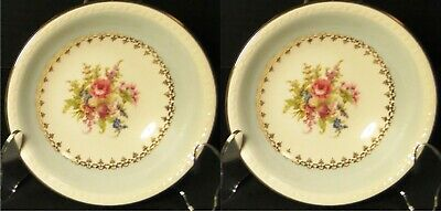 $7.99 • Buy Homer Laughlin Eggshell Georgian Chateau Blue Berry Bowls  3/8  Set 2 Excellent