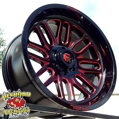 $1288 • Buy 20x10  BLACK RED FUEL IGNITE WHEELS RIMS FORD F-250 F350 SUPER DUTY LARIAT 8x170