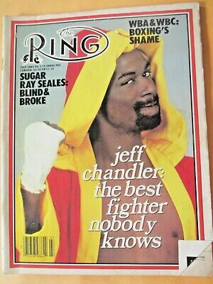 $1.99 • Buy The Ring Magazine July, 1983 Jeff Chandler On Cover