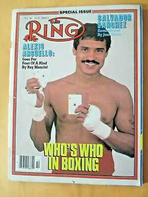 $1.99 • Buy The Ring Magazine October, 1982 Alexis Arguello On Cover