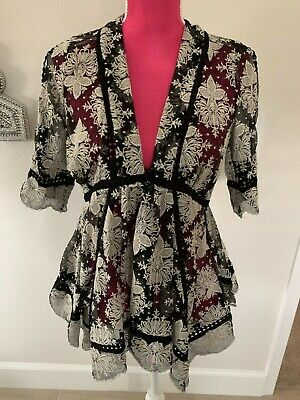 $235 • Buy Zimmermann Lace Baby Doll Top Blouse Size 0 Nwot Gorgeous Black Ivory