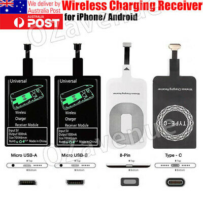 AU6.49 • Buy Universal Qi Wireless Charger Receiver Charging Adapter Pad Coil For Android Ios