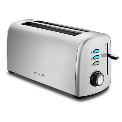 AU69.95 • Buy Maxim KitchenPro 4 Slice/Slots Automatic Bread Toaster Stainless Steel Silver