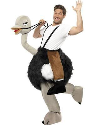 Deluxe Ostrich Bird Rider Fancy Dress Mens Ladies Adult Animal Ride On Costume • 81.99£