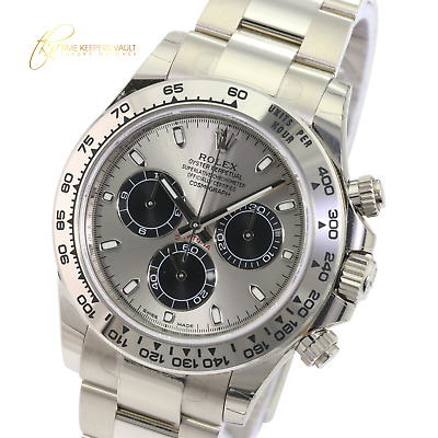 $ CDN55072.80 • Buy Rolex Watch 40mm Cosmograph Daytona 116509 18k White Gold Steel  Dial-UNWORN