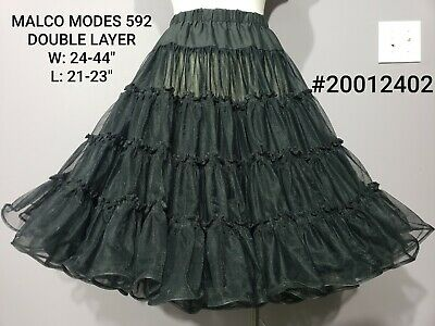 $20 • Buy Malco Modes #592 Edie Black Square Dance Petticoat Crinoline Medium