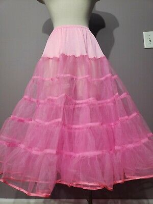 $10 • Buy Hot Neon Pink 591 Melonie Malco Modes XL Gorgeous Tea Length Petticoat Crinoline