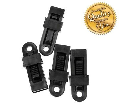 Heavy Duty Camping Tarpaulin Eyelet Clips Non-piercing Tent Tie Down Cover Uk • 2.99£