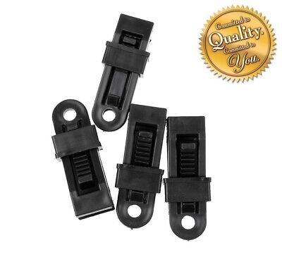 Heavy Duty Camping Tarpaulin Eyelet Clips Non-piercing Tent Tie Down Cover Uk • 4.93£