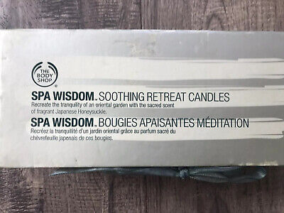 The Body Shop Spa Wisdom Soothing Retreat Candles Honeysuckle 3 In Pack  • 25.45£